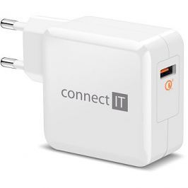 CONNECT IT InWallz QUALCOMM QUICK CHARGE 3.0 bílá