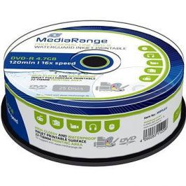 MediaRange DVD-R Waterguard Inkjet Fullprintable 25ks cakebox