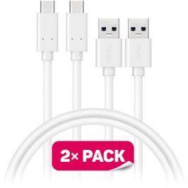 CONNECT IT Wirez USB-C 1m bílý, 2 ks