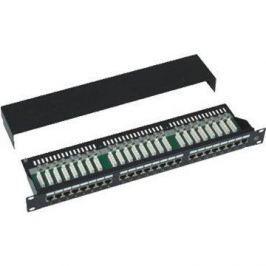 Datacom, 24x RJ45, přímý, CAT5E, STP, černý, 1U