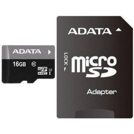 ADATA Premier MicroSDHC 16GB UHS-I + SDHC adaptér