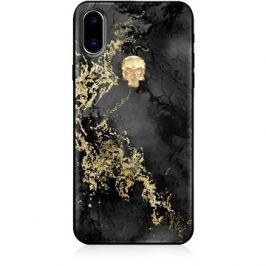 Bling My Thing Treasure Onyx/Gold Skull pro iPhone X