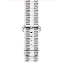 Apple 38mm Bílý z tkaného nylonu (proužky)