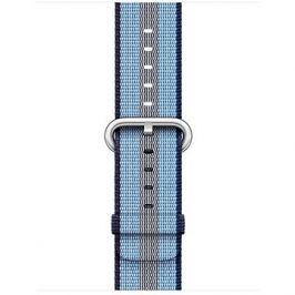Apple 38mm Půlnočně modrý z tkaného nylonu (proužky)