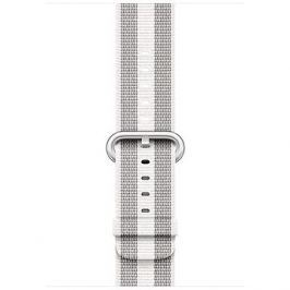 Apple 42mm Bílý z tkaného nylonu (proužky)