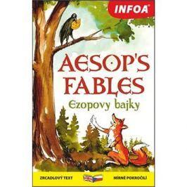 Aesop´s fables/Ezopovy bajky: zrcadlový text mírně pokročilí