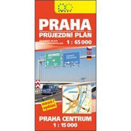 Praha průjezdní plán: 1:65 000 Praha centrum 1:15 000