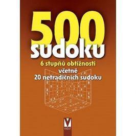 500 sudoku 6 stupňů obtížnosti: Včetně 20 netradičních sudoku