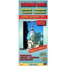 Střední Haná 1:75 000     Olomoucko, Prostějovsko, Přerovsko, Kroměřížsko: Digitální kartografie GPS