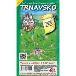 Trnavsko: Ručne maľovaná mapa regiónu