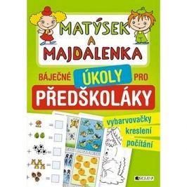 Matýsek a Majdalenka báječné úkoly pro předškoláky: vybarvovačky, kreslení, počítání