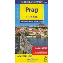 Prag 1:10 000: Karte touristischer Attraktionen /1:10 tis.