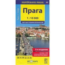 Praha 1:10 000: mapa turistických zajímavostí