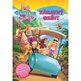 Barbie a sestřičky Zachraňte pejsky Zábavný sešit: uvnitř samolepky