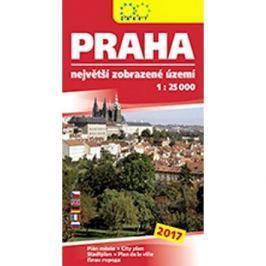 Praha největší zobrazené území 2017: 1:25 000