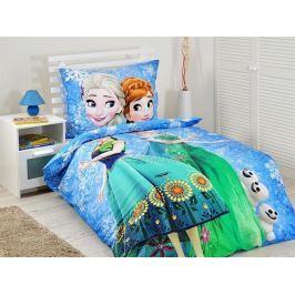 Povlečení Frozen Blue Snowflake bavlna 140x200 70x90