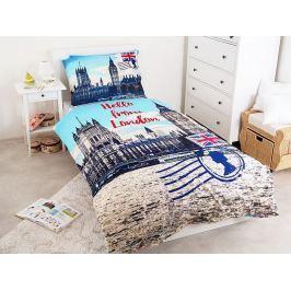 Jerry Fabrics Povlečení Londýn Hello 140x200 70x90