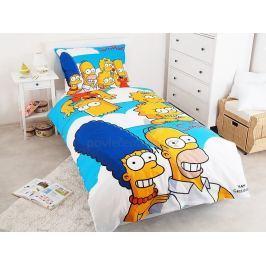 Jerry Fabrics bavlna povlečení Simpsons Family Clouds 140x200 70x90