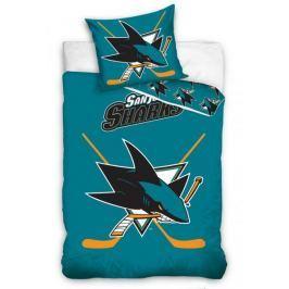 TipTrade bavlna svíticí povlečení NHL San Jose Sharks 140x200 70x90