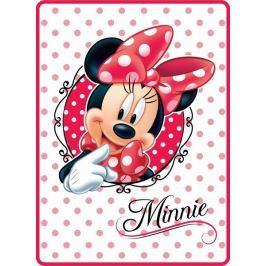 Akrylová dětská deka Minnie puntík 80x110