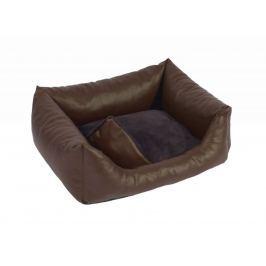 Kvalitní psí pelech z koženky Exclusive hnědá 85x120