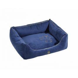 Semišový kvalitní pelech Royal modrá 45x55