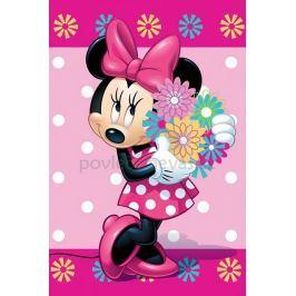 Fleecová licenční deka Minnie Flowee 100x150