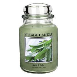 Village Candle Vonná svíčka ve skle, Svěží šalvěj - Sage Celery, 26oz, 645 g