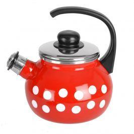 Orion smaltovaný čajník s píšťalkou Puntík 1,75 l