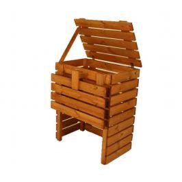 Gaboni 55349 Zahradní dřevěný kompostér - 400l