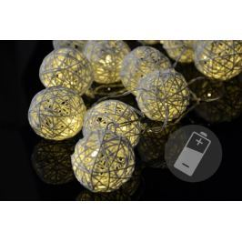 Nexos 33208 Vánoční LED osvětlení - ratanové koule - 20 LED Vánoční dekorace