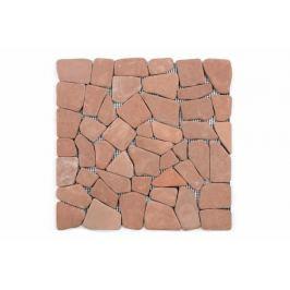 Divero Garth 636 Mramorová mozaika - červená / terakota 1 m2