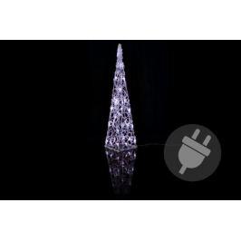 Nexos 1175 Vánoční dekorace - Akrylový kužel - 60 cm, studeně bílé + trafo