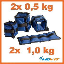 Movit 1249 Sada 4 závaží na kotníky a zápěstí, 2x 1 kg, 2x 0,5 kg