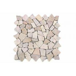 Divero Garth 554 Mramorová mozaika béžová/růžová 11 sítěk 1 m² - 35x35 cm