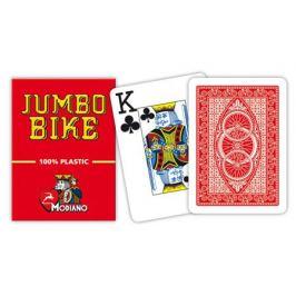 Modiano BIKE TROPHY 31303 100% plastové karty 2 rohy - Červené