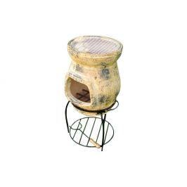 Garthen TERA 264 Venkovní zahradní terakotový krb 80 cm