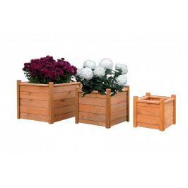 Tradgard 6942 Dřevěný dekorativní květináč 40 x 40 cm