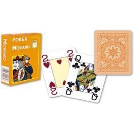 Modiano 2098 100% plastové karty 4 rohy - Oranžové