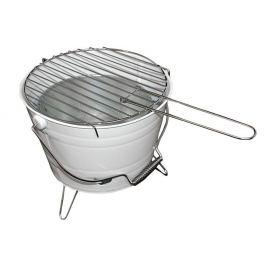 Garthen 27148 Mini BBQ gril vědro bílý
