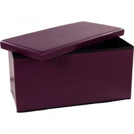 STILISTA 6481 Skládací lavice s úložným prostorem - fialová/lila