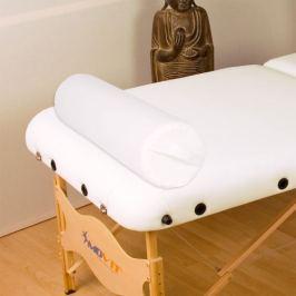 Movit Polštář pro masážní stůl bílý kožený 68 cm válec