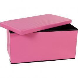 STILISTA 6479 Skládací lavice s úložným prostorem - růžová