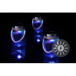 Garthen 36748 Sada 3 ks dekorativní solární osvětlení - závěsná sklenice - LED měnící barvu