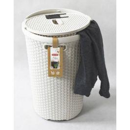 CURVER 30449 Kulatý koš na prádlo 48 L krémová