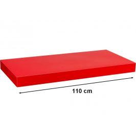 STILISTA VOLATO 31080 Nástěnná police  - lesklá červená 110 cm