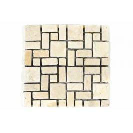 Divero Garth 1130 Mramorová mozaika krémová obklady 11 ks - 1m² - 30x30 cm