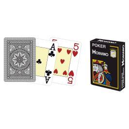 Modiano 41680 100% plastové karty 4 rohy - černé