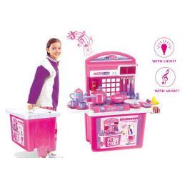 G21 24520 Dětská kuchyňka s příslušenstvím v kufru růžová