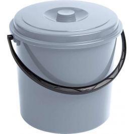 CURVER 41599 Kbelík s víkem - 10L - šedý